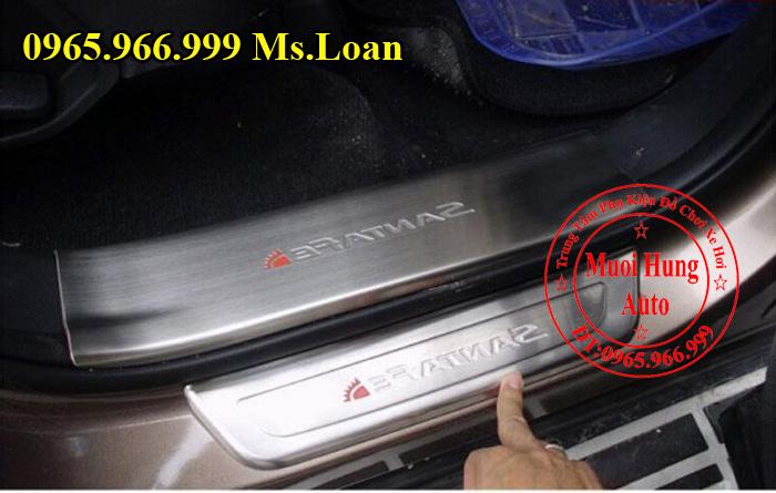 Nẹp Chống Trầy Bước Chân Hyundai Santafe 04