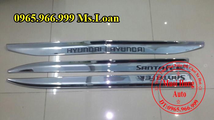 Nẹp Hông Hyundai Santafe Chính Hãng 02