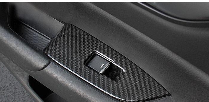 Ốp Công Tắc Cửa Xe Mazda CX5 2018 Carbon 05