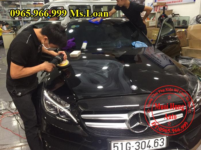 Phủ Nano Cho Xe Mercedes C300 Chất Lượng