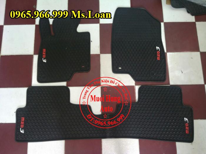 Thảm Lót Sàn, Chân Ô Tô 3D Mazda 3