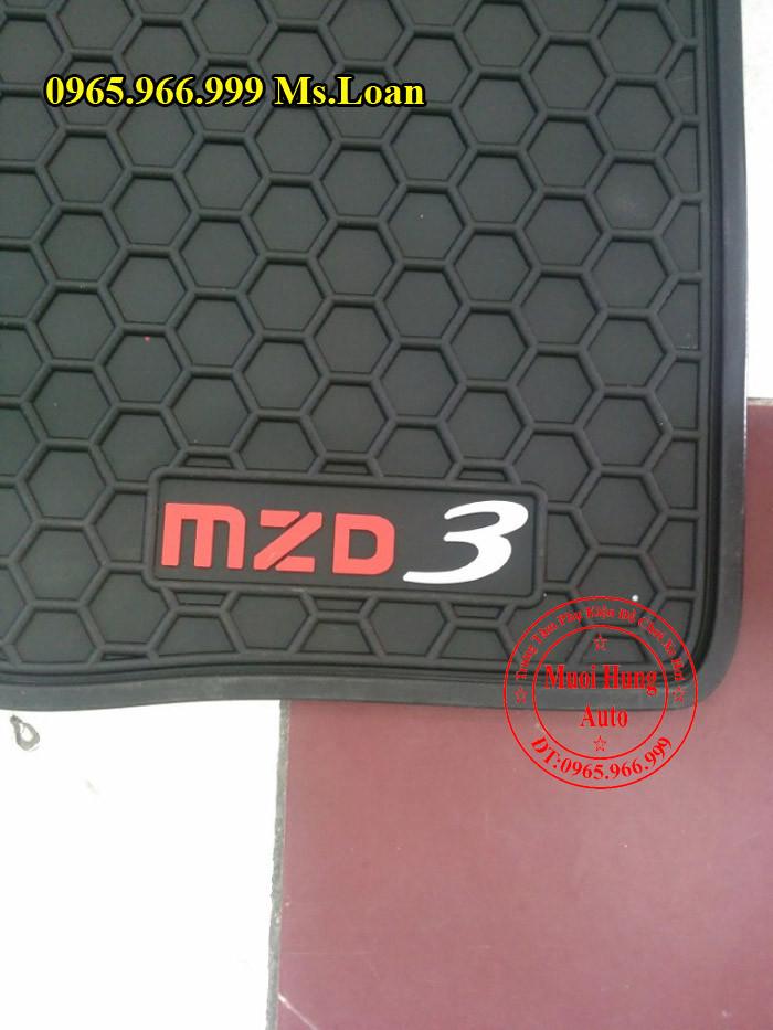 Thảm Lót Sàn, Chân Ô Tô 3D Mazda 3 03