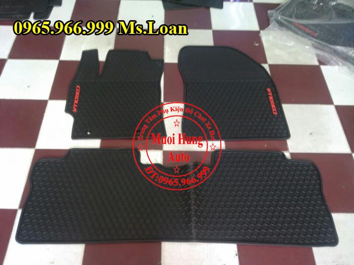 Thảm Lót Sàn, Chân Ô Tô 3D Toyota Altis 02