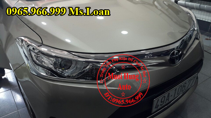 Viền Đèn Trước Sau Toyota Vios 2015, 2016 02